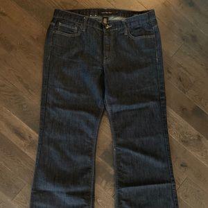 Dark Wash, Wide Leg Jeans. Calvin Klein.